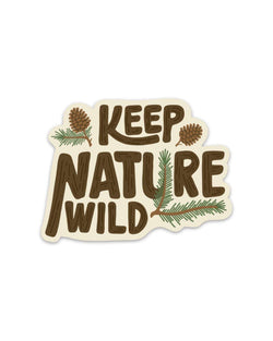 Pinecone | Sticker - Keep Nature Wild