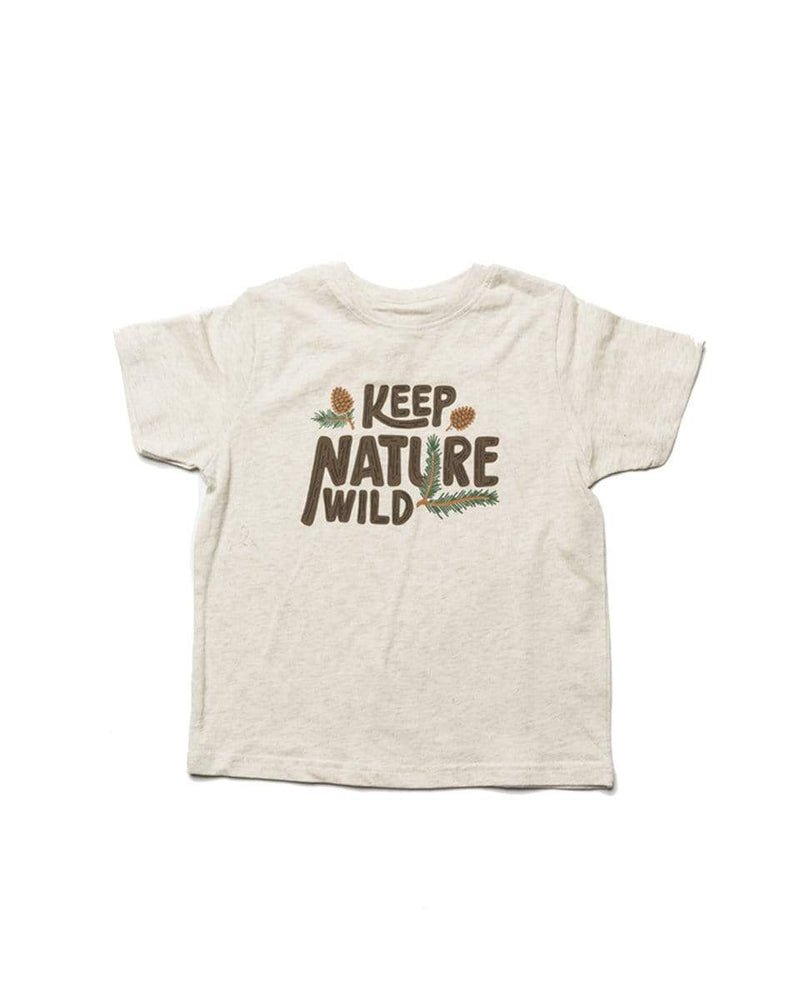 Pinecone Toddler Tee | Heather Natural - Keep Nature Wild