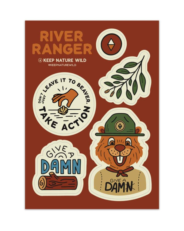 Keep Nature Wild Sticker River Ranger | Sticker Sheet