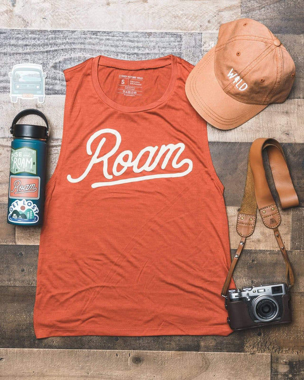 Roam Women's Muscle Tank | Sedona Red - Keep Nature Wild