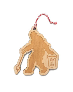 Sasquatch Holiday Ornament - Keep Nature Wild
