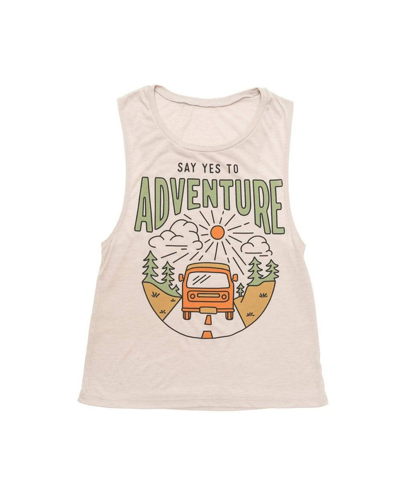 Say Yes to Adventure Muscle Tank | Dust - Keep Nature Wild