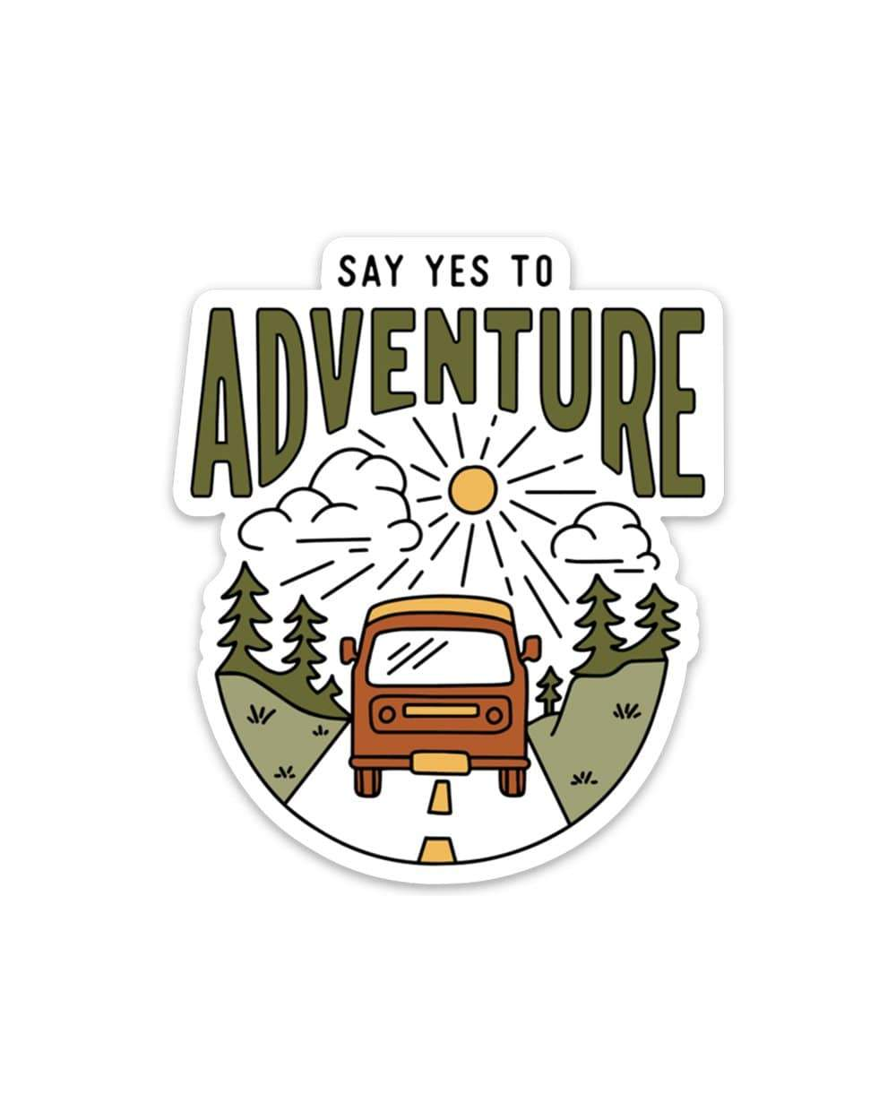 Mountains Vinyl Decal Say Yes to New Adventures