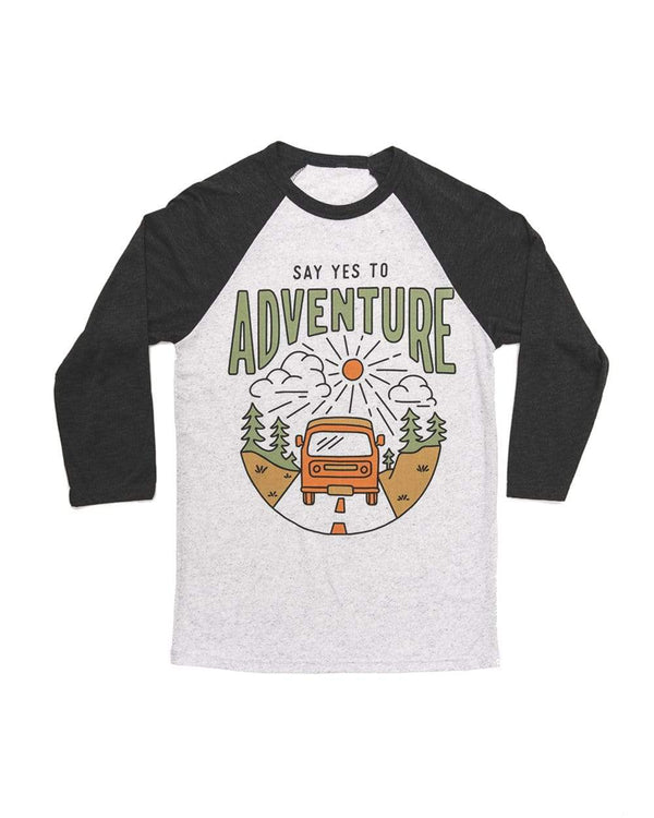Say Yes to Adventure Unisex 3/4 Tee | Charcoal - Keep Nature Wild
