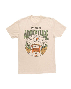 Say Yes to Adventure Unisex Tee | Cream - Keep Nature Wild
