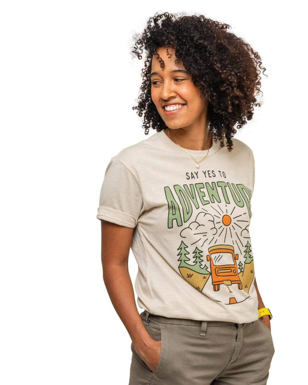 Say Yes to Adventure Unisex Tee | Cream 1