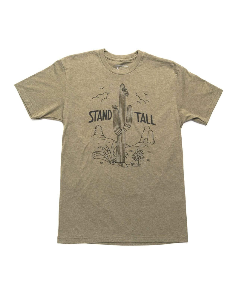 Stand Tall Cactus Unisex Tee | Army - Keep Nature Wild