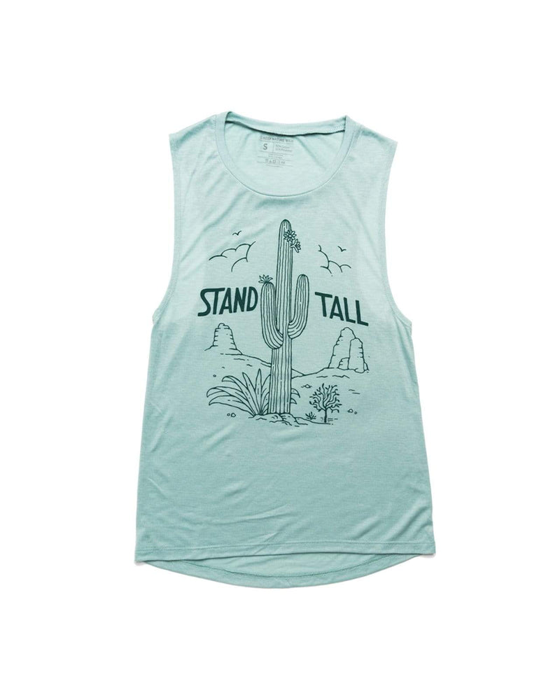Stand Tall Cactus Womens Muscle Tank | Saguaro - Keep Nature Wild
