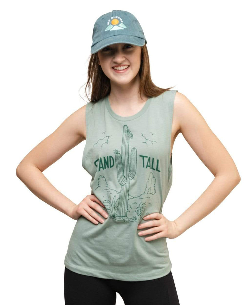 Keep Nature Wild Tank Stand Tall Cactus Womens Muscle Tank | Saguaro