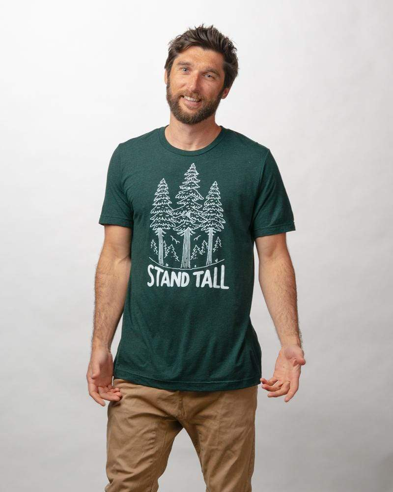 Stand Tall Pine Unisex Tee | Emerald - Keep Nature Wild