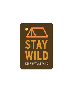Stay Wild Tent | Sticker - Keep Nature Wild