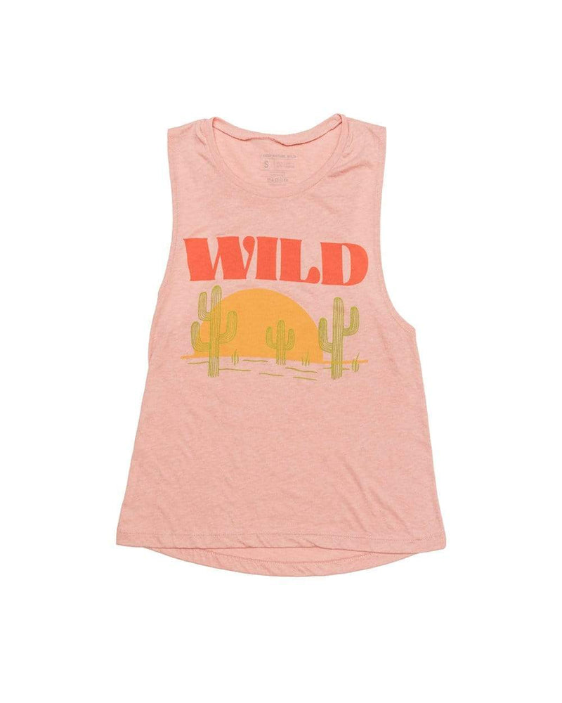 Keep Nature Wild Tank Sunset Chaser Muscle Tank | Rose