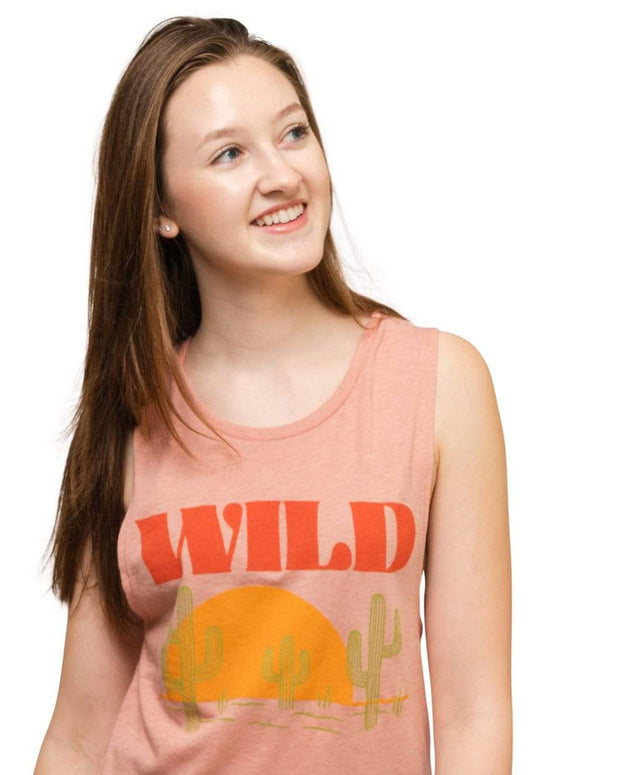 Sunset Chaser Muscle Tank   Rose 1