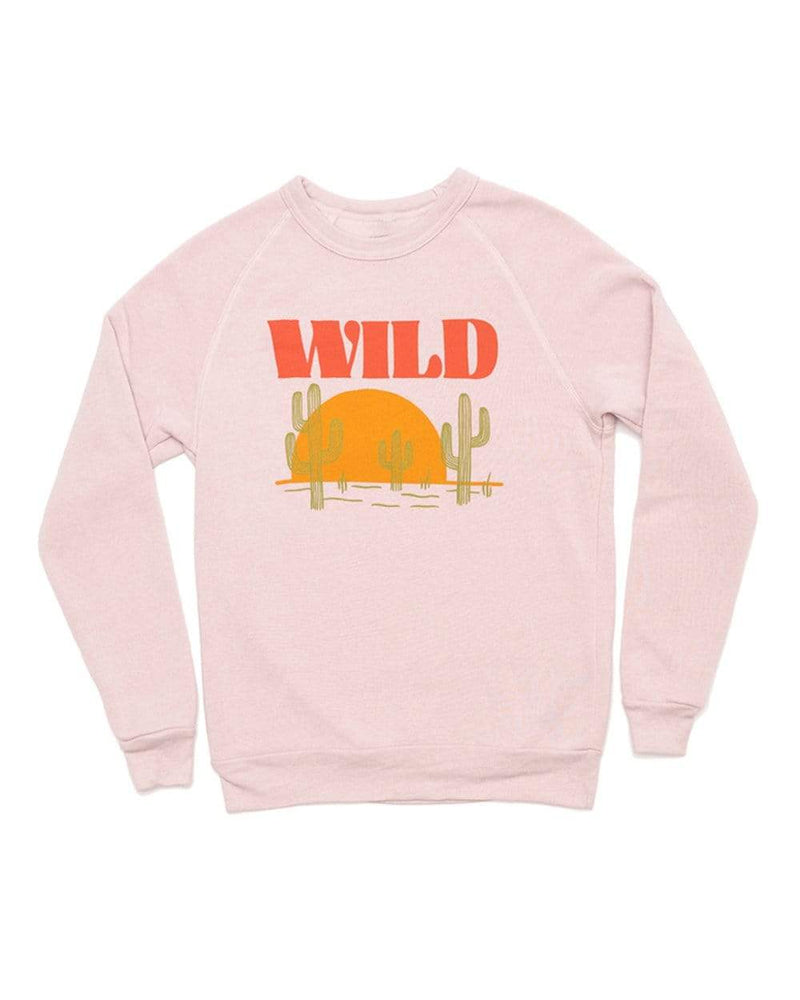 Sunset Chaser Unisex Raglan Pullover | Rose - Keep Nature Wild