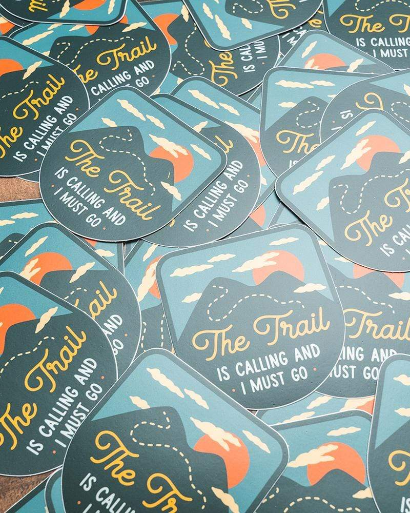 The Trail is Calling | Sticker - Keep Nature Wild