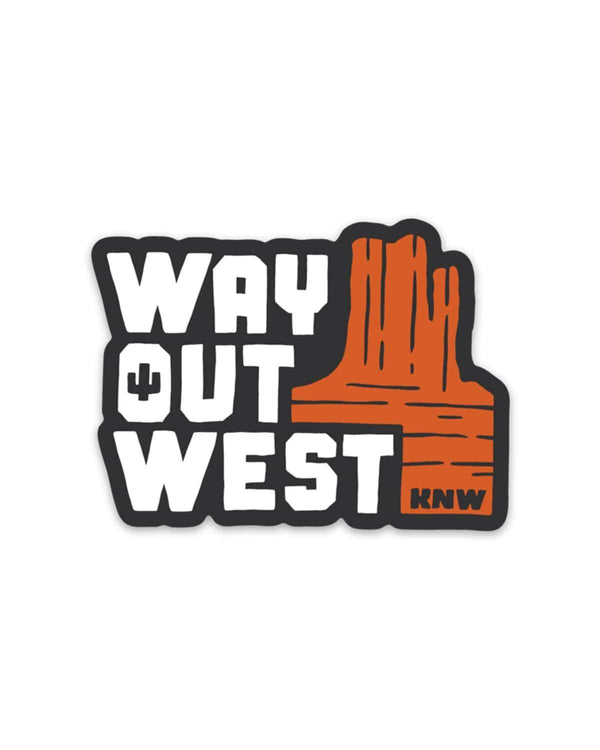Way out West | Sticker - Keep Nature Wild