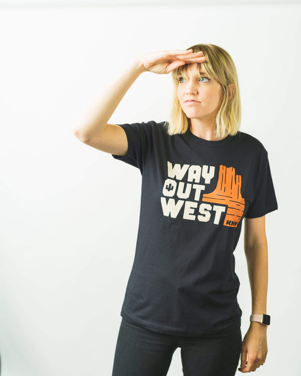 Way Out West Unisex Tee | Black - Keep Nature Wild