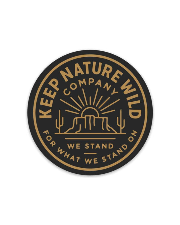 We Stand | Sticker - Keep Nature Wild