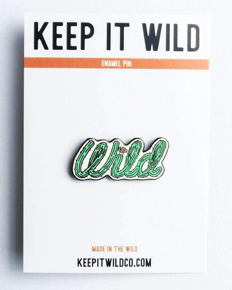 Wild Cactus | Enamel Pin - Keep Nature Wild