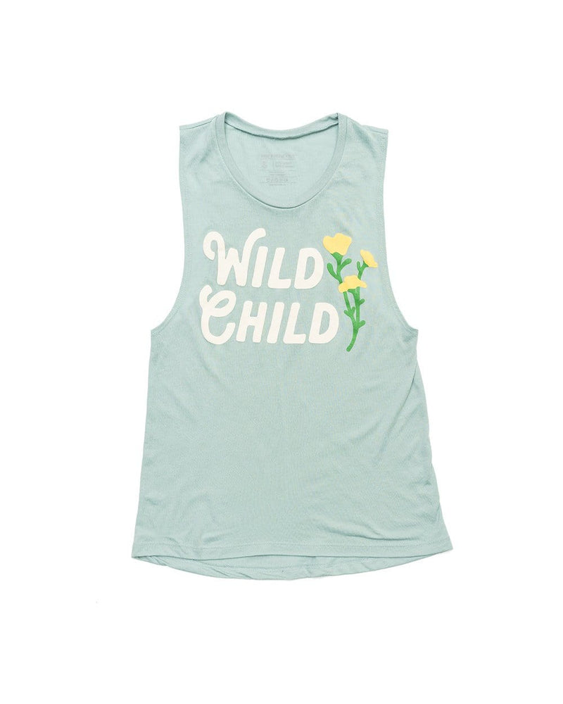 Keep Nature Wild Tank Wild Child Muscle Tank | Dusty Blue