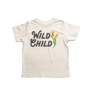 Wild Child Toddler Tee | Natural Heather