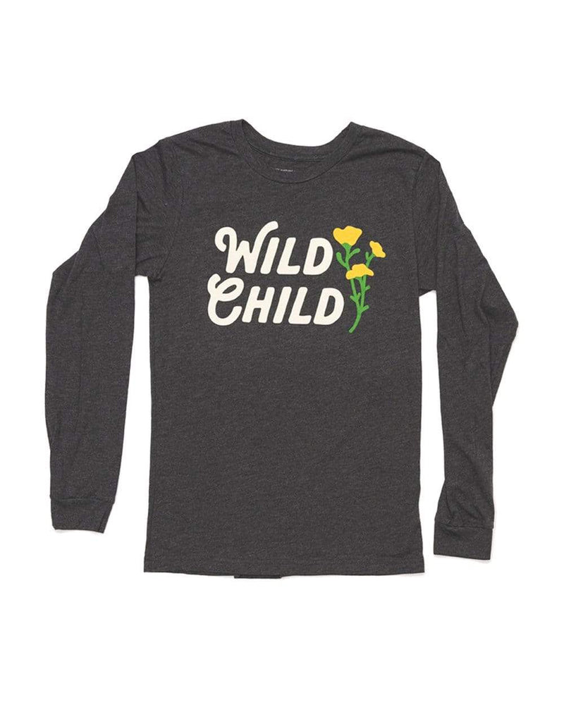 Wild Child Unisex Long Sleeve | Heather Dark Gray - Keep Nature Wild