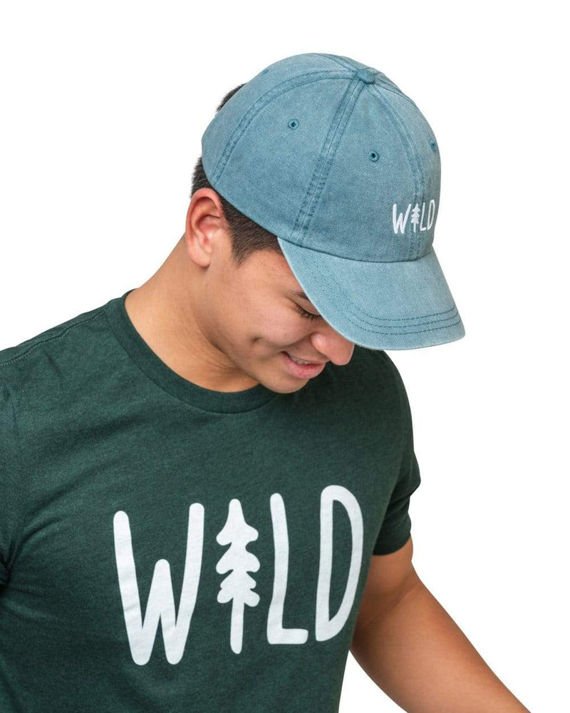 Keep Nature Wild Hat Wild Pine Dad Hat | Coastal Blue