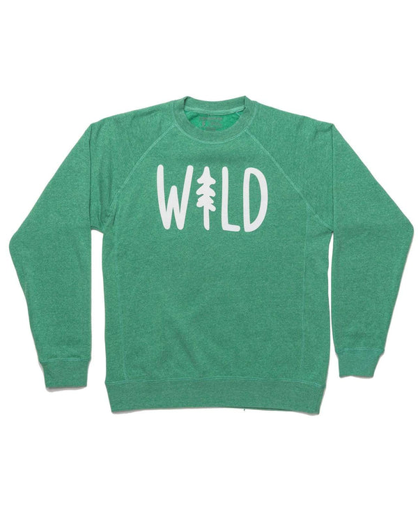 Keep Nature Wild Outerwear Wild Pine Fleece Raglan Pullover | Meadow Green