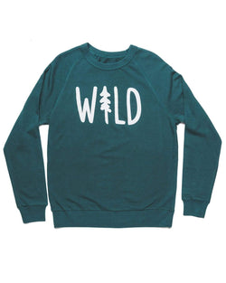 Keep Nature Wild Outerwear Wild Pine French Terry Pullover | Deep Green