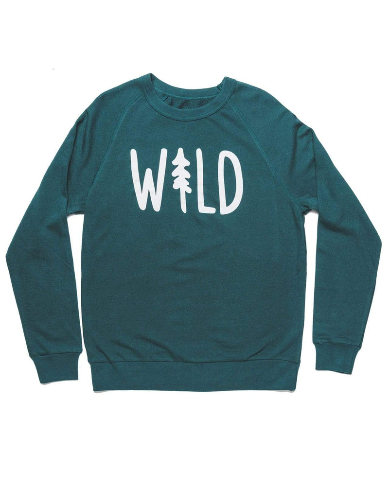 Wild Pine French Terry Pullover | Deep Green - Keep Nature Wild