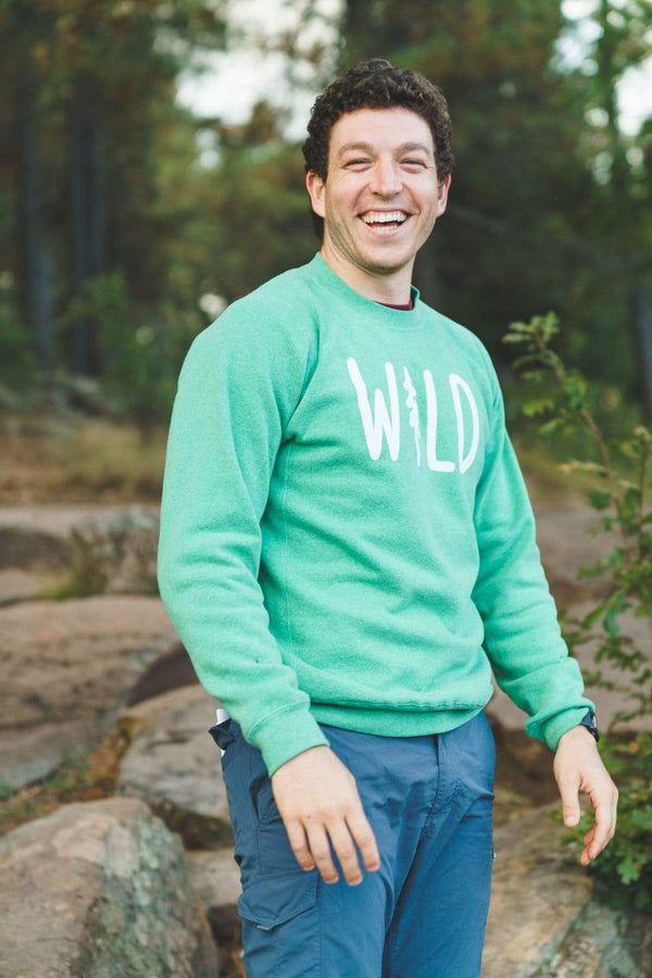 Wild Pine Fleece Raglan Pullover | Meadow Green - Keep Nature Wild