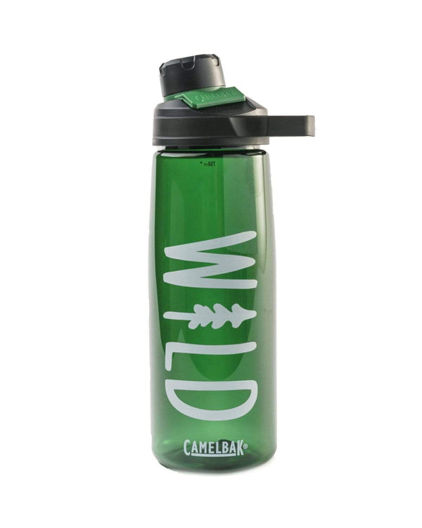 Wild Pine | Hunter Green Clear 25oz Water Bottle - Keep Nature Wild