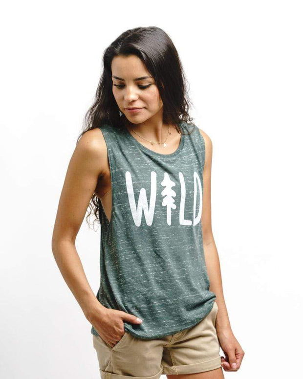 Wild Pine Muscle Tank | Forest 1