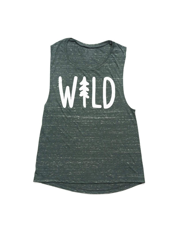 Wild Pine Muscle Tank | Forest - Keep Nature Wild
