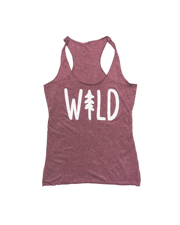 Wild Pine Racerback Tank | Cranberry - Keep Nature Wild