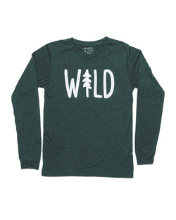 Wild Pine Unisex Long Sleeve | Emerald - Keep Nature Wild