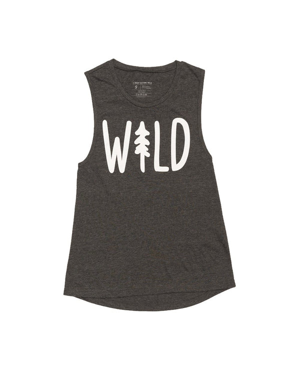 Keep Nature Wild Tank Wild Pine Women's Muscle Tank | Charcoal
