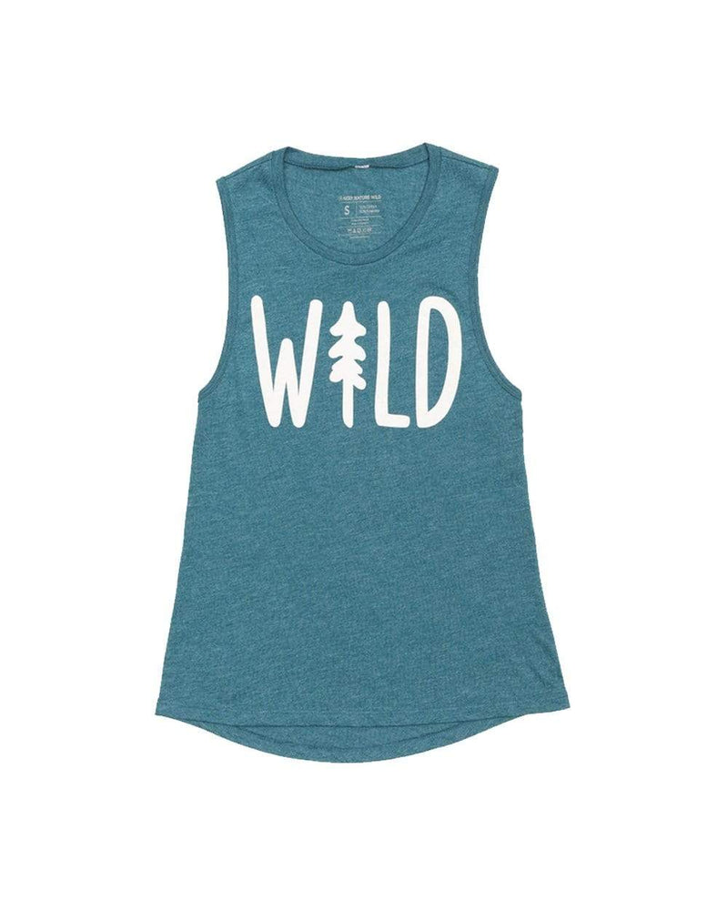 Keep Nature Wild Tank Wild Pine Women's Muscle Tank | Heather Teal