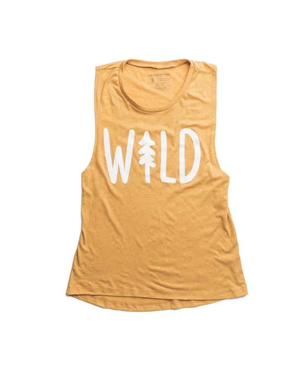 Wild Pine Women's Muscle Tank | Pollen - Keep Nature Wild