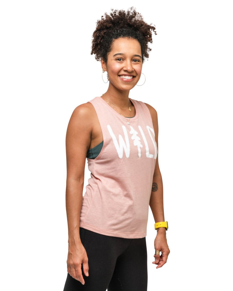 Keep Nature Wild Tank Wild Pine Women's Muscle Tank | Rose
