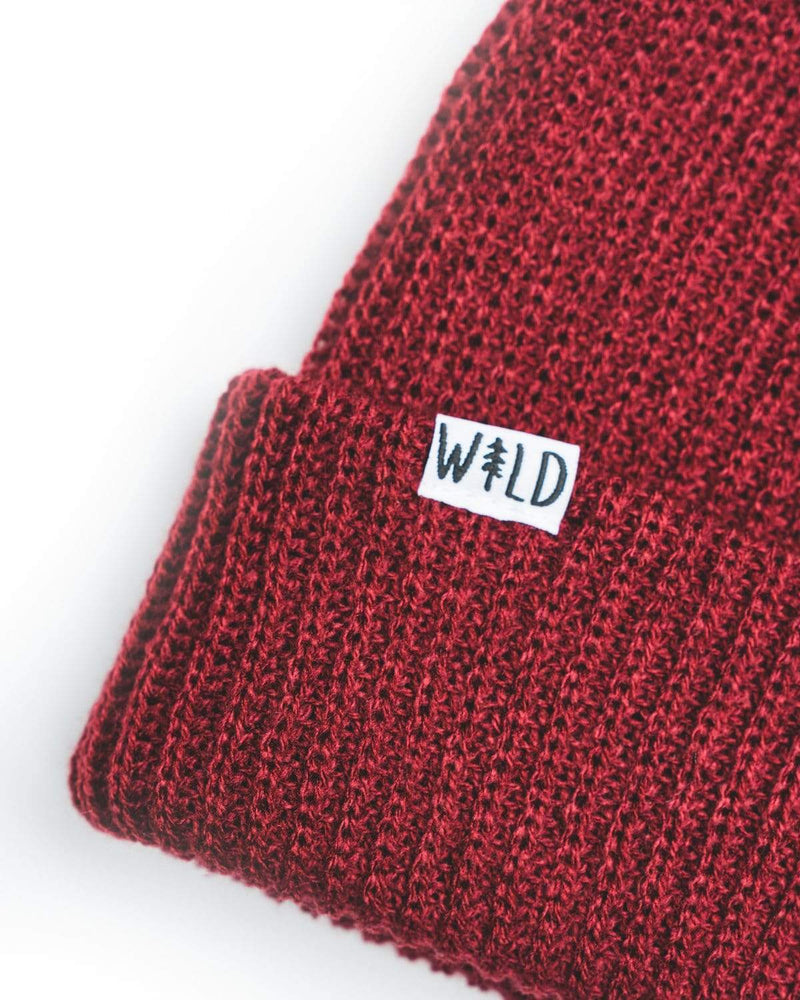 Wild Slouch Beanie | Crimson Red - Keep Nature Wild