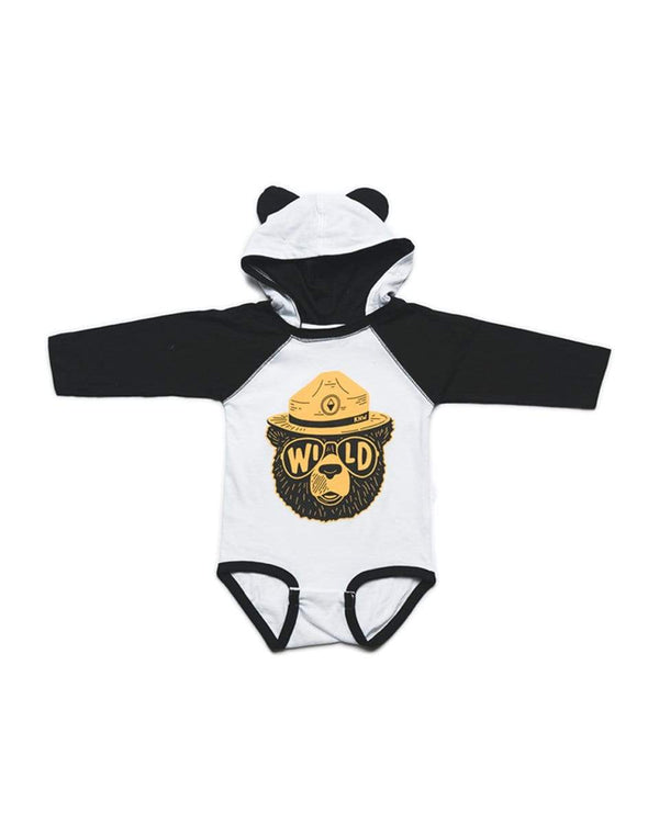Wildbear Hoodie Onesie | Black/White - Keep Nature Wild