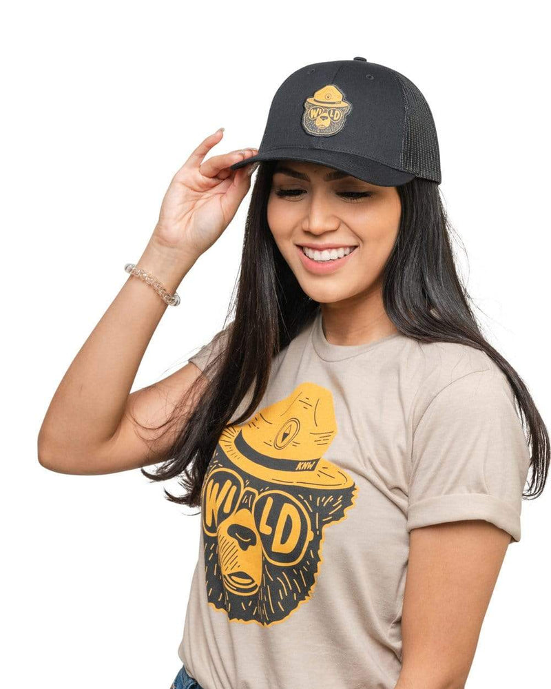 Keep Nature Wild Hat Wildbear Patch Hat | Black