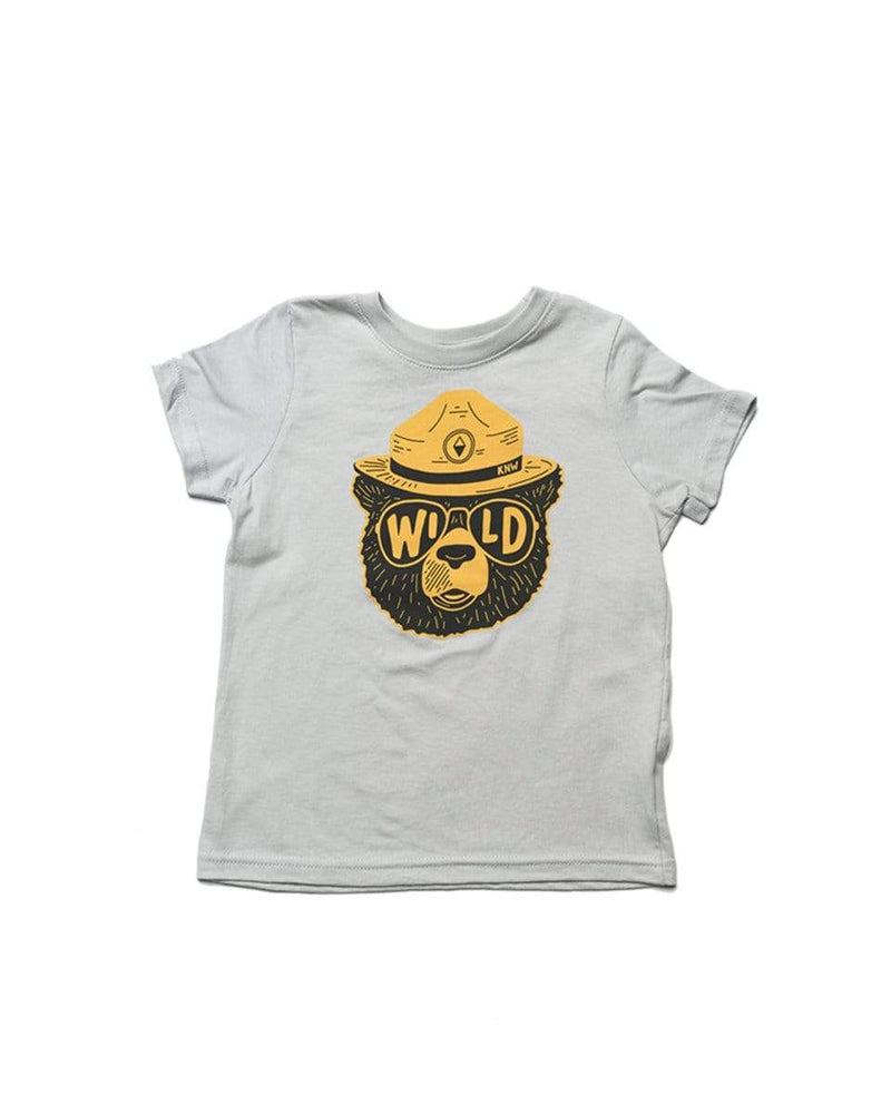 Wildbear Toddler Tee | Heathered Stone - Keep Nature Wild