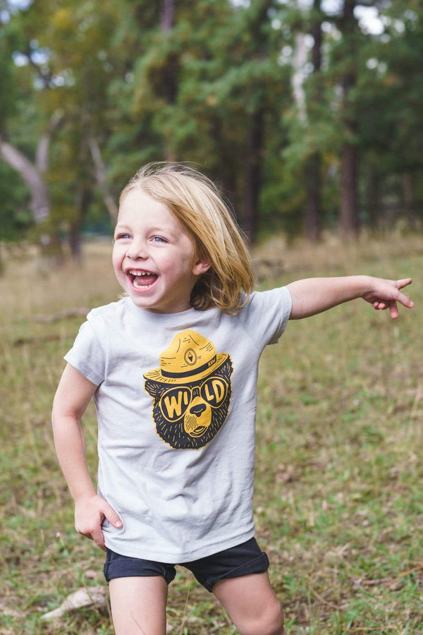 Wildbear Toddler Tee | Stone - Keep Nature Wild