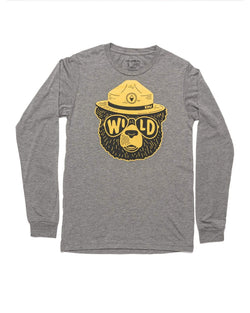 Wildbear Unisex Long Sleeve | Deep Gray - Keep Nature Wild