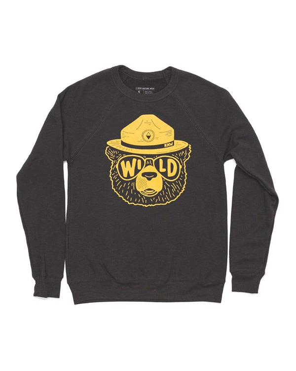 Wildbear Unisex Raglan Pullover | Dark Gray - Keep Nature Wild