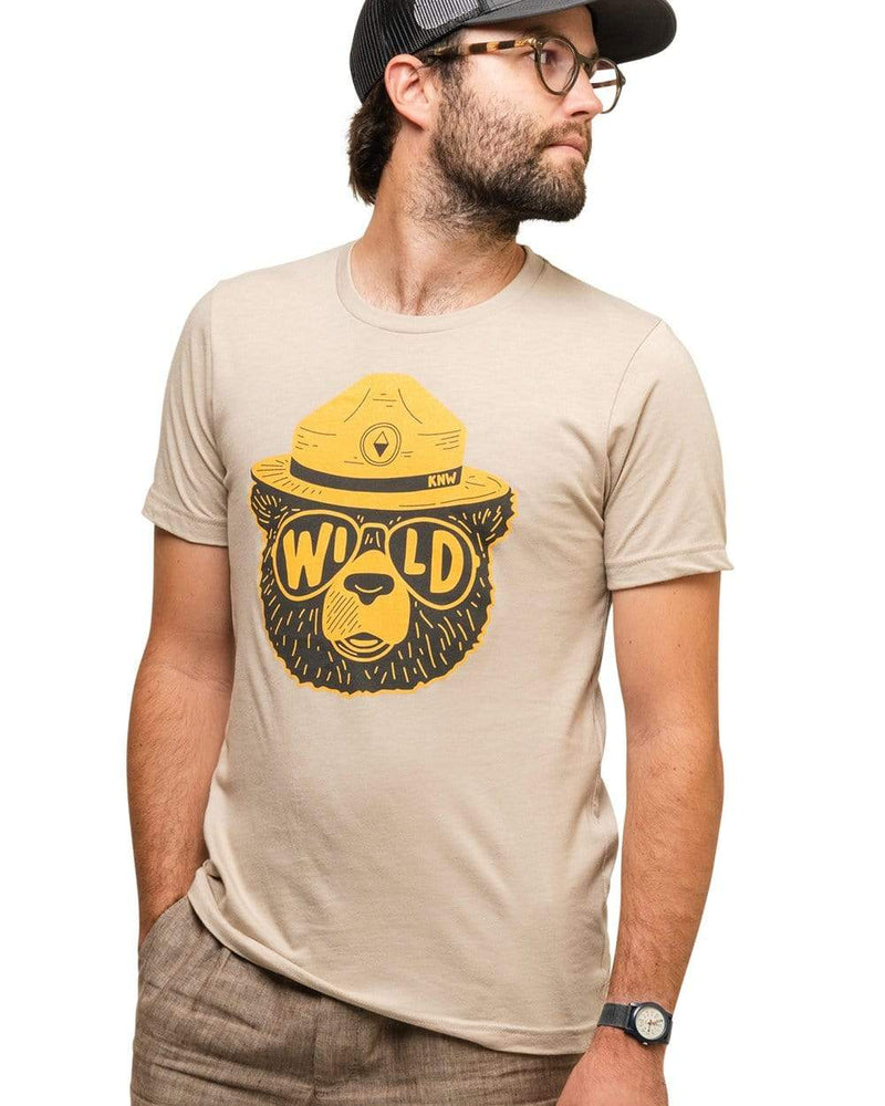 Keep Nature Wild Tee Wildbear Unisex Tee | Heather Tan