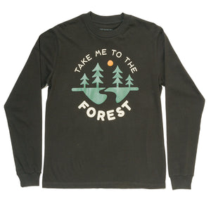 To the Forest Unisex Long Sleeve | Coal