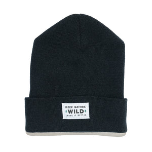 Twin Pines Cuffed Beanie | Black